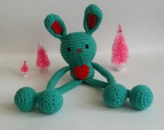 """Custom Crochet Bunny Amigurumi Plush """"Lovey"""""""