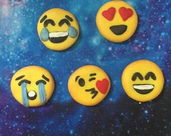 Polymer Clay Kawaii Emojis - Set of 5