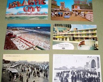 6 Vintage Postcards Atlantic City New Jersey