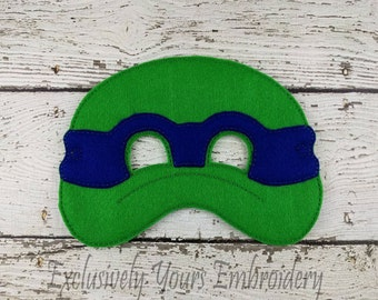 Turtle Children's Felt Mask  - Costume - Theater - Dress Up - Halloween - Face Mask - Pretend Play - Party Favor