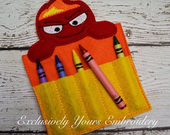 READY TO SHIP Rage Emotion Crayon Holder, Toddler Arts and Crafts, Back To School, Travel Case