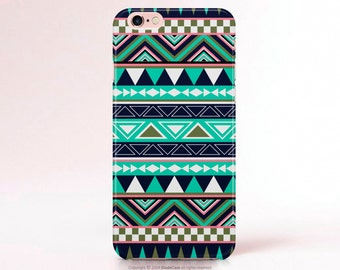 Mint iPhone 6 Case iPhone 5C Case Aztec iPhone 5s Case Tribal iPhone 6s Case Aztec iPhone 5 Case geometric iphone 5s Case S6 Case [190]