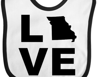 Love Missouri Baby Bib by Inktastic