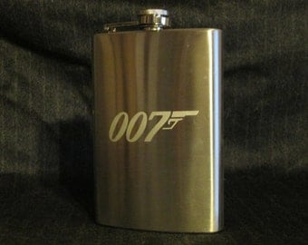 James Bond 007 8oz Stainless Steel Hip Flask