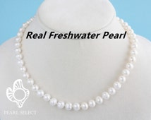 bridesmaid gift,pearl necklace set,7-8mm freshwater pearl necklace,bridesmaid sets,wedding jewelry,bridesmaid jewelry