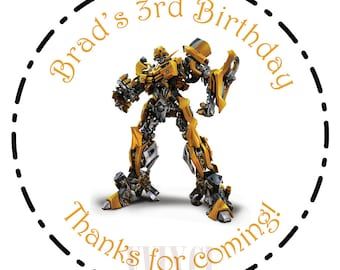 "Custom Personalized ""Transformers"" Sticker - Perfect for Birthday Invitations, Party Favors, Goodie Bags, and More!"