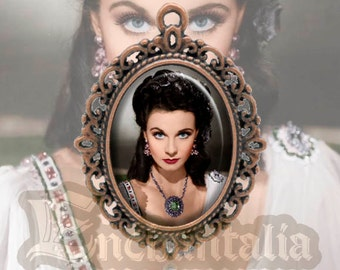 Vivien Leigh cameo pendant / Collar / Scarlett O'Hara / Gone With the Wind / Cleopatra / Hollywood actress