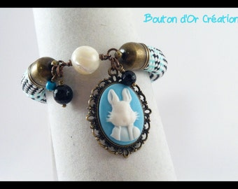 Blue Rabbit rope bracelet