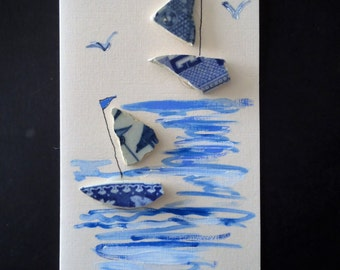 Thames pottery card