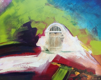 Gate - Abstract Painting - Original Acrylic , Oil Painting