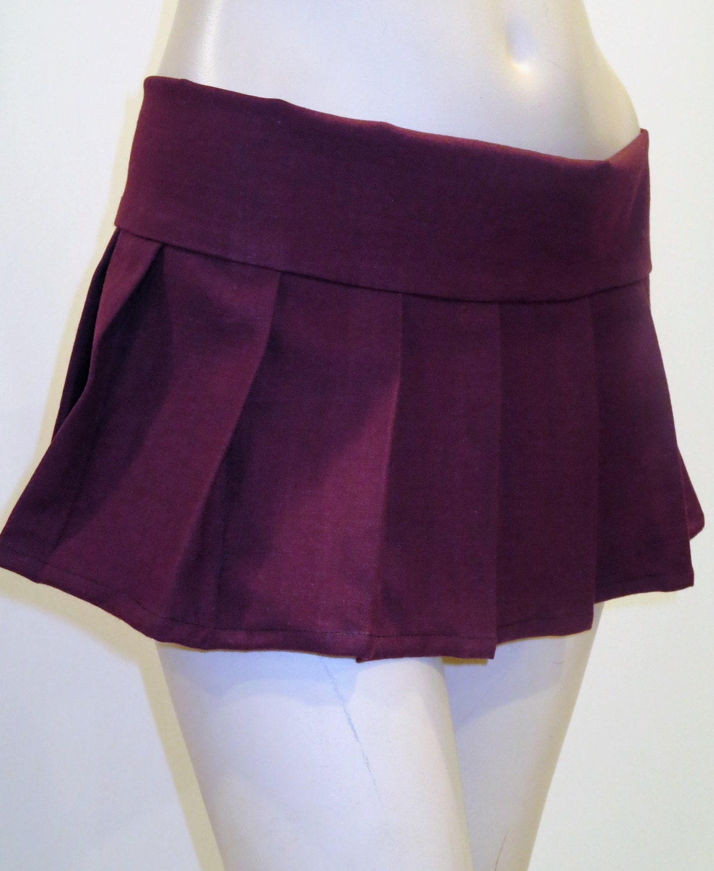 burgundy micro mini pleated skirt maroon burgundy