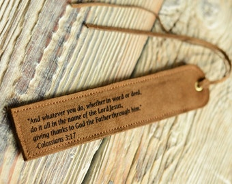 Leather bookmarks Personalized bookmarks Handmade gift Readers gift Bookmark