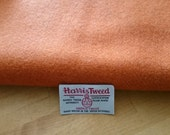 Harris Tweed Cloth Fabric Orange Luxury Handwoven 100% Pure Virgin Wool handwoven in Outer Hebrides Scotland