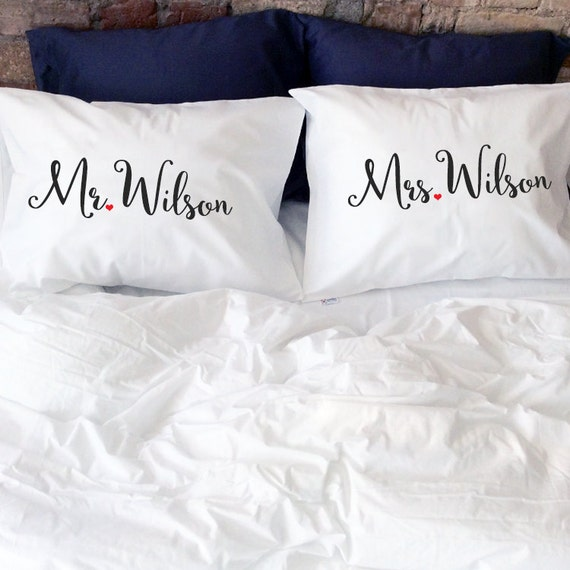 His And Hers Wedding Gifts Uk : ... his and hers pillowcases engagement marriage wedding gifts couple