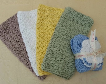 Wash cloth and scrubbies 100% cotton