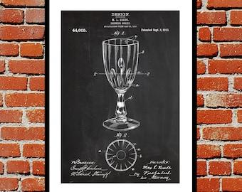 Drinking Goblet Patent, Goblet Poster, Goblet Blueprint,  Goblet Print, Goblet Art, Goblet Decor