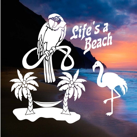 fcm svg cut files life 39 s a beach 1 2 3 by decalpals on etsy. Black Bedroom Furniture Sets. Home Design Ideas