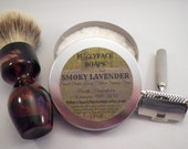 SMOKY LAVENDER Small Batch Luxury Tallow Shaving Soap