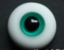 BJD glass Eyes Blue Green for Luts / yosd / msd / sd 1/6 1/4 1/3 bjd dolls (12mm 14mm 16mm 18mm 20mm Size Available)