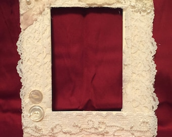 Lace insert for 8x10 frame