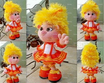 Orange Elf Doll PATTERN crochet amigurumi