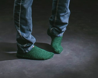 Knitted slippers woman, man or children