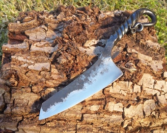 Handforged Carbon Steel and Mild Steel Knife