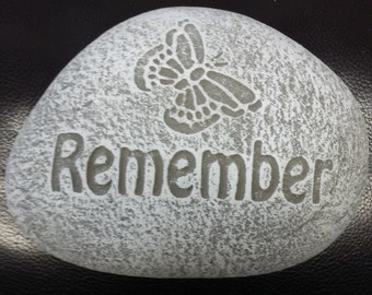 Concrete Remember Garden Stone
