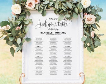 Wedding Seating Chart Sign, Seating Chart Printable, Seating Chart Template, Seating Board, Seating Plan, PDF Instant Download #BPB202_52