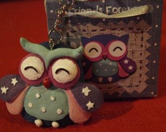 Turqouise Owl Keyring