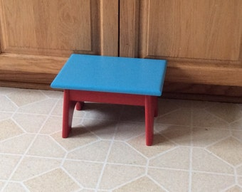 Painted Pine Step Stool / Foot Stool