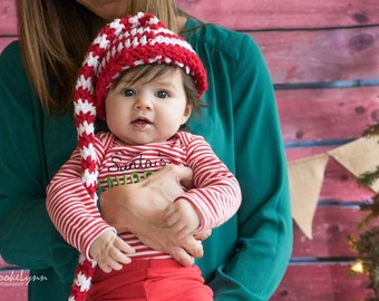 Long Tailed Baby Elf Hat