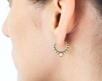 Mothers Day Sale Tribal earring (single). hoop earrings. earrings handmade. cartilage earring. helix earring. tragus earring. tragus piercin