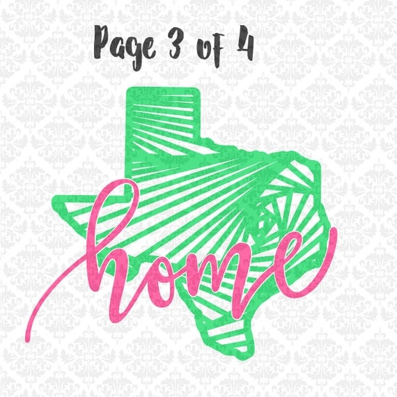 Texas Zentangle Home Monogram Filigree SVG DXF Ai Eps PNG Scalable Vector Instant Download Commercial Use Cutting Files Cricut Silhouette