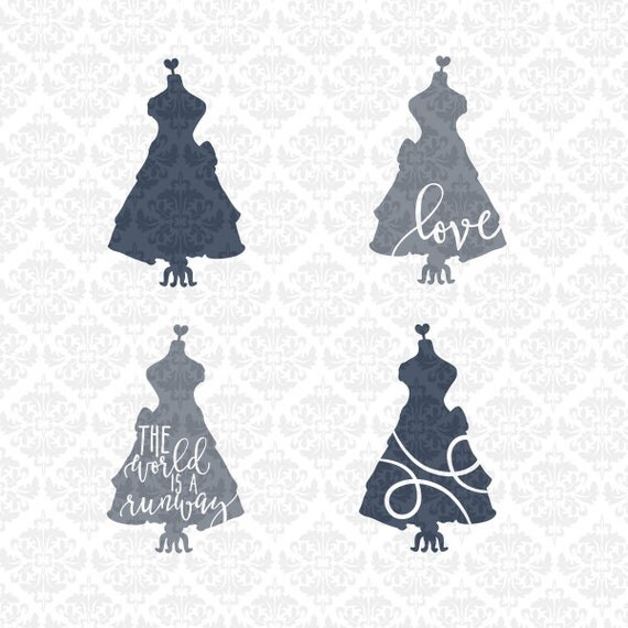 The World Is A Runway Model Seamstress Mannequin Heart SVG STUDIO Ai EPS Scalable Vector Instant Download Commercial Use Cricut Silhouette