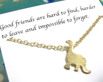 Tiny Gold Dinosaur Necklace, Friendship Necklace, Best Friend Necklace |A5| Best Friend Gift, Dainty Necklace, Birthday Gift For Friend
