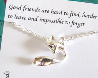 Best Friend Gift, Silver Fox Bracelet, Friendship Bracelet, A5, Best Friend Bracelet, Gift For Friend, Birthday Gift, Graduation Gift