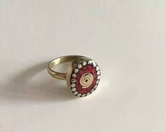 Beautiful boho ring, gypsy ring, tribal ring, ethnic ring, vintage ring