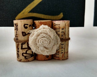 Wine Cork Place Card Holders, Wedding Table Centerpieces