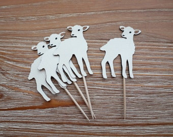Little Lamb Cupcake Toppers