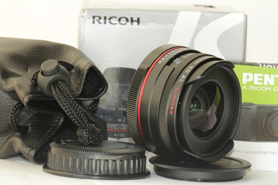 Mint Ricoh HD Pentax-DA 15mm F4ED AL Limited Nero Black Lens w/Box, Case