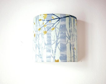 Gold forest, nature Wall Sconce