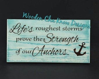 Anchor quote | Etsy