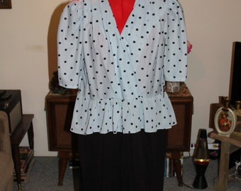 Vintage Sally Lou Polka Dot Dress