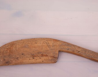 "Vintage TURKISH WEAVING Tool Wood Great Patina 14""x3"" (36x7 cm) FREE Shipping Item No. E-103"