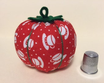 Tomato With A Twist Lavender Scented Pincushion