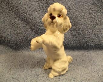 Cute Poodle Dog Figurine Norcrest China Japan
