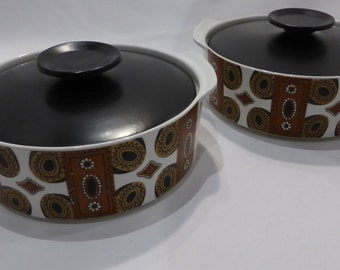 "Meakin ""Maori"" pair of casserole dishes - original from the 1960's"