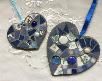 Mosaic hearts kits in 4 colours