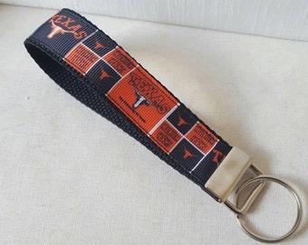 Texas Longhorn Key Fob, UT key fob, Longhorns, Texas football, University of Texas Key Fob, keychain,  Swanky Bands